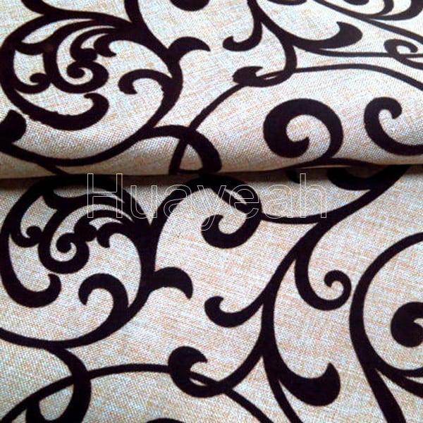 brown color flocking sofa fabrics