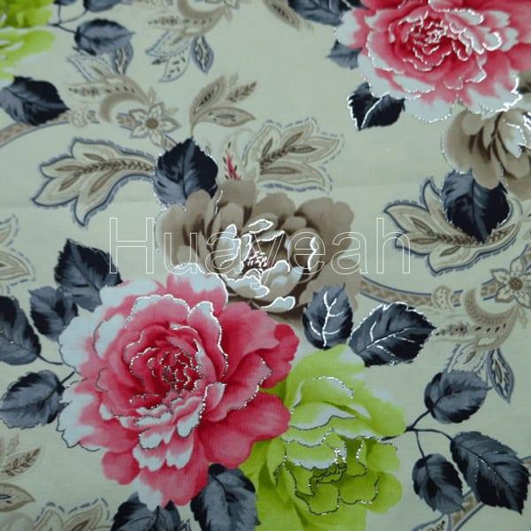 Velvet Fabric Floral Printed Designer Upholstery Fabric