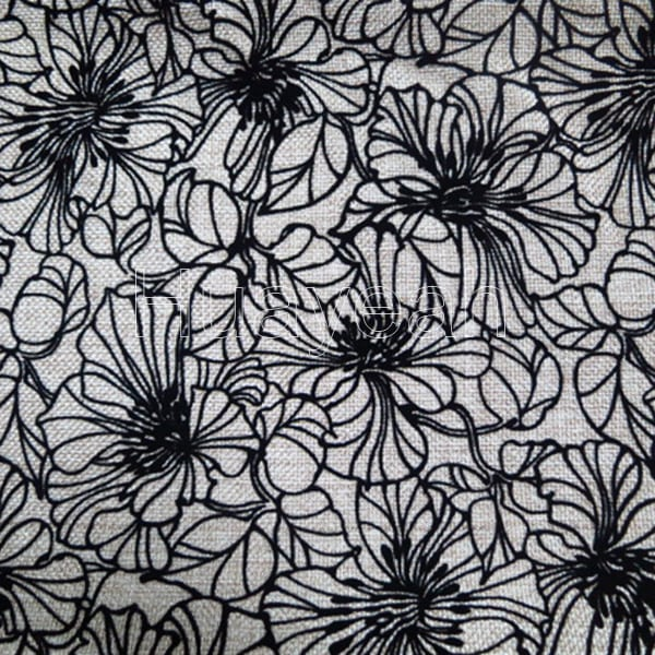 Flocking Floral Upholstery Fabric Australia