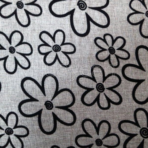 Floral Flocking Home Decor Fabric