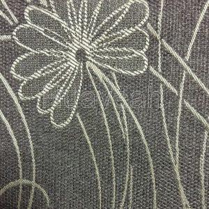 linen curtain fabric close look