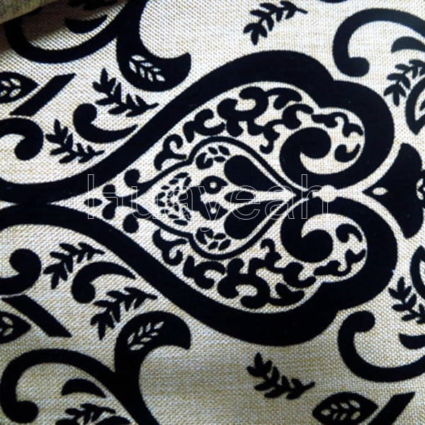 Linen Look High End Upholstery Fabric Close Look