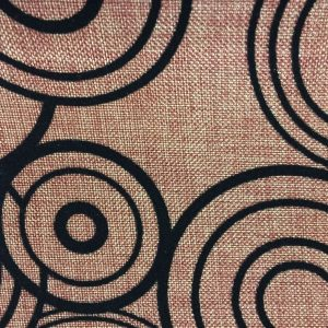 linen upholstery fabric close look