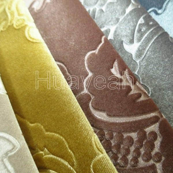 Embossed Luxury Velvet Upholstery Fabric For Sale
