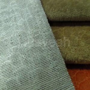 western upholstery fabric backside