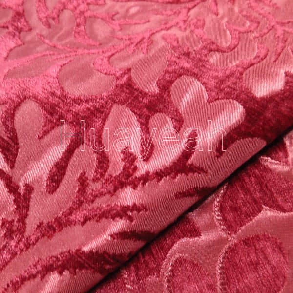 floral jacquard art deco upholstery fabric