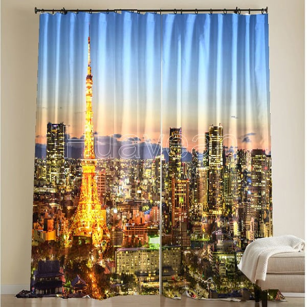 3d Digital Print Curtains