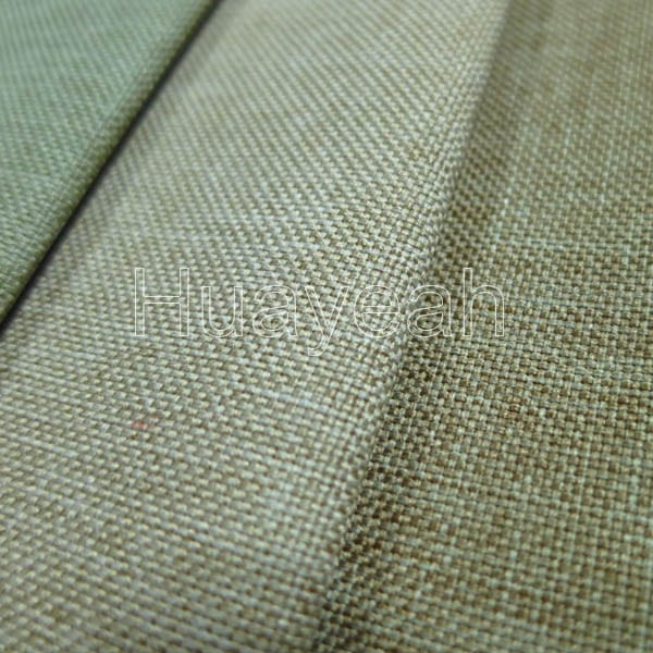 Plain Linen Look Vinyl Upholstery Fabric