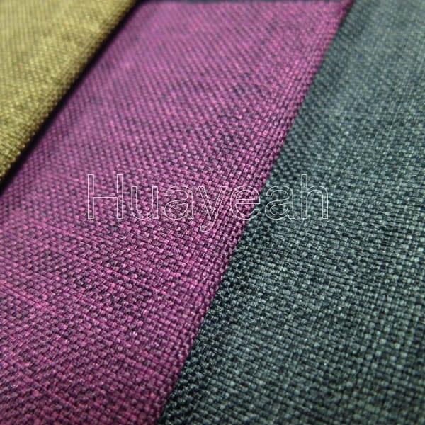 Plain Linen Look Vinyl Upholstery Fabric