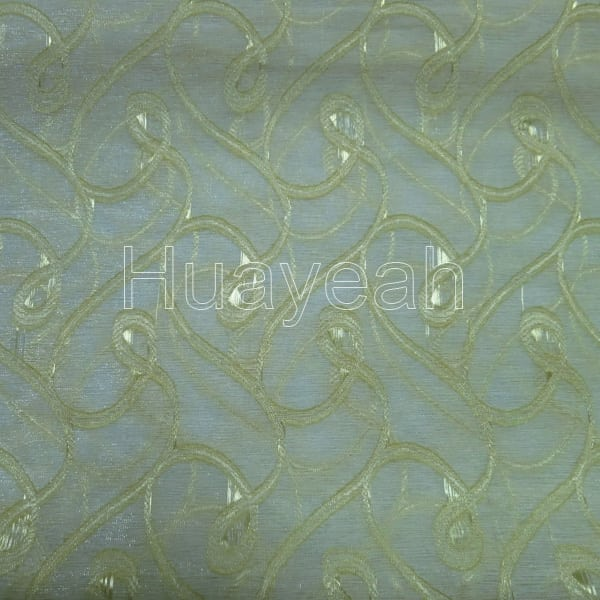 Polyester jacquard voile curtain fabric for Voile fabric