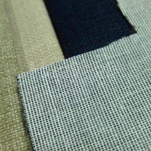 washed linen fabric backside