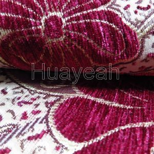 jacquard floral chenille fabric close look