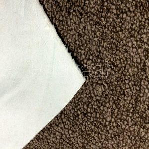 washed velvet fabric close look