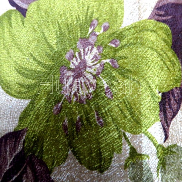 Green Color Flower Decoration Fabric