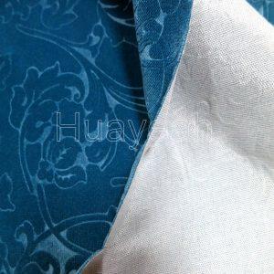 embossed velvet fabric backside