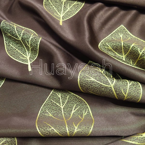 Leaf Design Jacquard Polyester Curtain Fabric