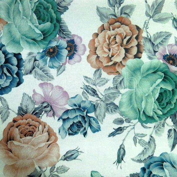 Linen Look African Print Fabric