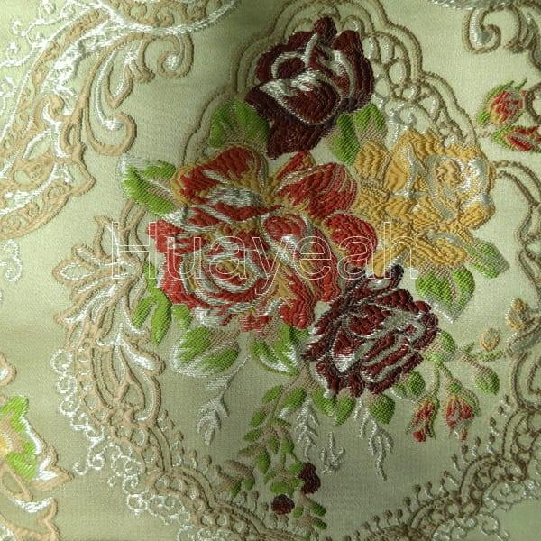 High Density Jacquard Floral Sofa Fabric