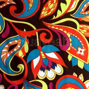 bright color upholstery fabric close look