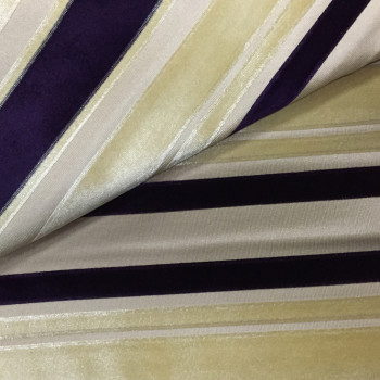stripe velvet furniture fabric