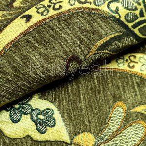 chenille jacquard fabric close look