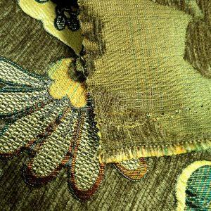 chenille jacquard fabric backside