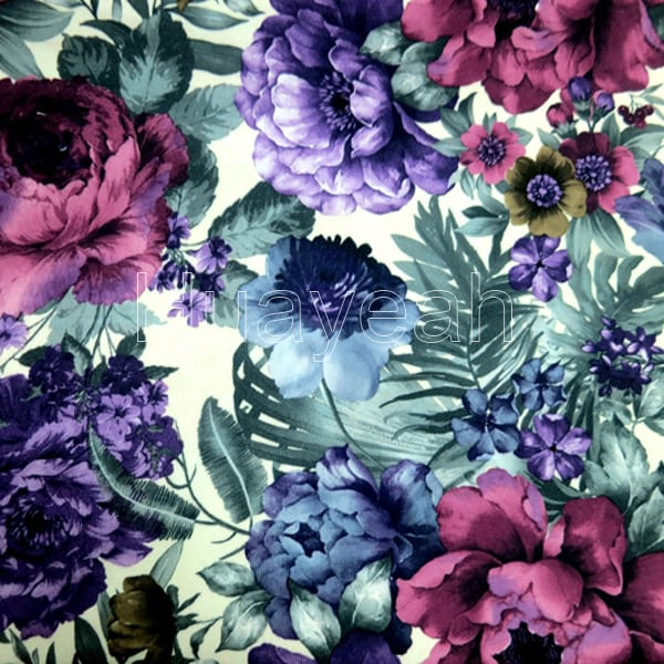 Polyester Velvet Flower Pattern Sofa Fabric