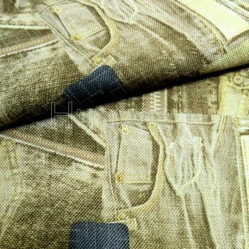 rolls of upholstery fabrics