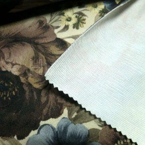 silk burnout velvet fabric backside