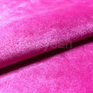 pink velvet fabric close look
