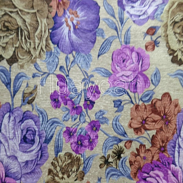 Print Chenille Upholstery Fabric For Sofa