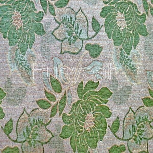 Flower Design Jacquard Upholstery Chenille Fabric