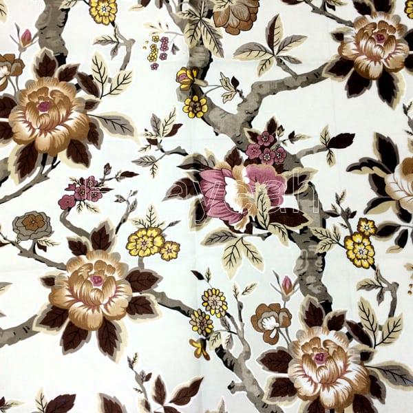 Print Jacquard Velvet Upholstery Fabric