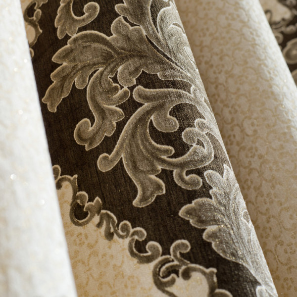 European style large pattern curtain fabric sale