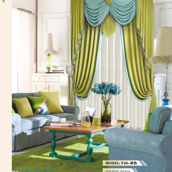 Modern home linen lime green curtain fabric - Modern fabrics for curtains ...