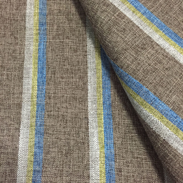 Polyester Stripe Linen Like Sofa Upholstery Fabric