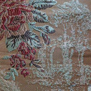 jacquard brocade cushion pillow case fabric close look