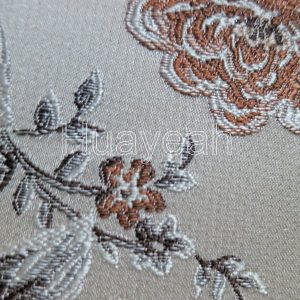 jacquard damask brocade fabric for upholstery close look