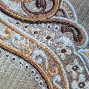 damask fabric for upholstery dining room chair close look