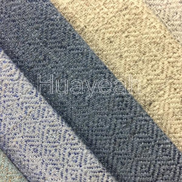 Sofa Polyester Linen Look Jacquard Fabric