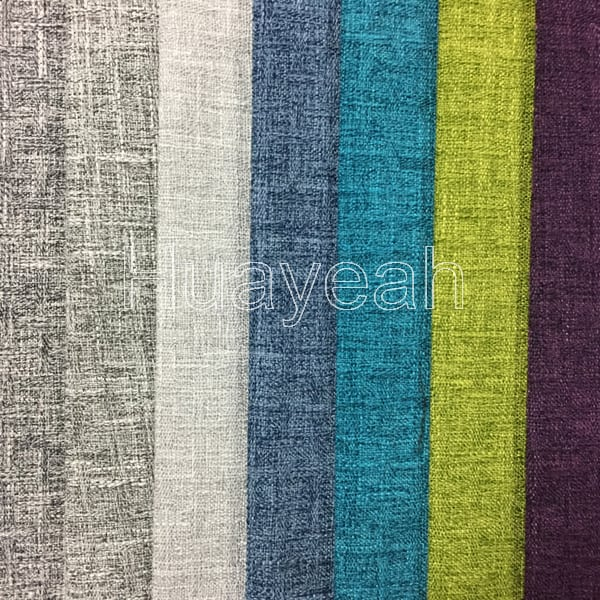 Linen Look 100% Polyester Durable Sofa Fabrics
