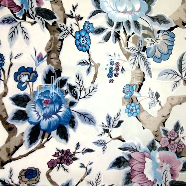 Fl Printed Upholstery Velvet Fabric By The Yard Whola