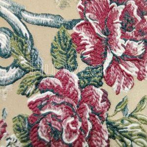 jacquard upholstery fabric close look
