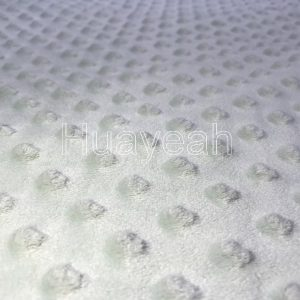 Bubble minky fabric by the yard close side