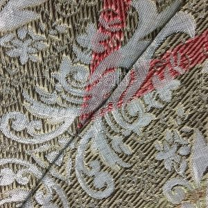 bright color jacquard fabric back side