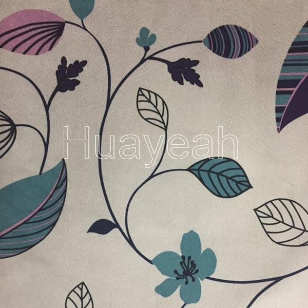 Embossed Velvet Fabric Printed With Flowers