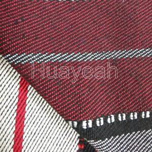 striped jacquard sadu fabric back side