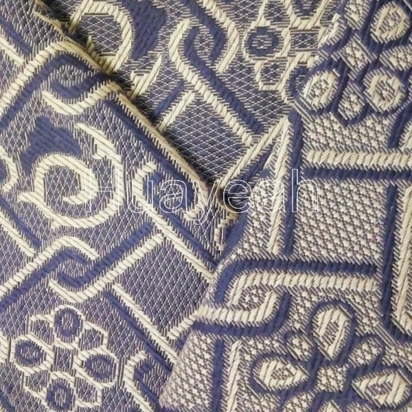 Jacquard Furniture Tapestry Fabric Back Side