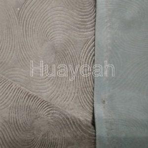 embossed velvet upholstery fabric back side