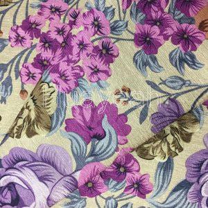 flower pattern fabric close side